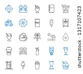 ice icons set. collection of... | Shutterstock .eps vector #1317107423