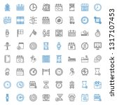 time icons set. collection of... | Shutterstock .eps vector #1317107453