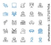 man icons set. collection of... | Shutterstock .eps vector #1317107456