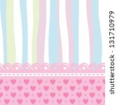 Stock vector background for a baby card 131710979