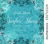 bridal invitation card with... | Shutterstock .eps vector #131711114