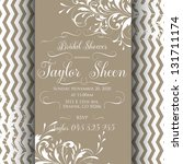 bridal invitation card with... | Shutterstock .eps vector #131711174
