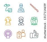 patient icons. trendy 9 patient ... | Shutterstock .eps vector #1317114659