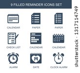 9 reminder icons. trendy... | Shutterstock .eps vector #1317114749
