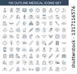 100 medical icons. trendy... | Shutterstock .eps vector #1317116576