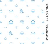 hat icons pattern seamless... | Shutterstock .eps vector #1317117836