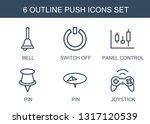 6 push icons. trendy push icons ... | Shutterstock .eps vector #1317120539