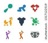9 infant icons. trendy infant... | Shutterstock .eps vector #1317122519