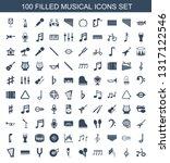 100 musical icons. trendy...   Shutterstock .eps vector #1317122546