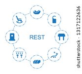 rest icons. trendy 8 rest icons.... | Shutterstock .eps vector #1317122636