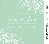 wedding invitation | Shutterstock .eps vector #131712464
