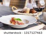 italian pasta with tomatoes ... | Shutterstock . vector #1317127463