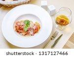 italian pasta with tomatoes ... | Shutterstock . vector #1317127466