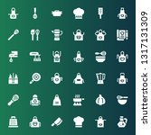 culinary icon set. collection... | Shutterstock .eps vector #1317131309