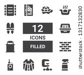 filled icon set. collection of... | Shutterstock .eps vector #1317132830