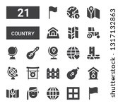 country icon set. collection of ... | Shutterstock .eps vector #1317132863