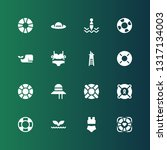 swim icon set. collection of 16 ... | Shutterstock .eps vector #1317134003