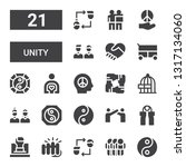 unity icon set. collection of... | Shutterstock .eps vector #1317134060