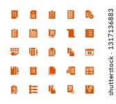 clipboard icon set. collection...