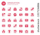 graduation icon set. collection ... | Shutterstock .eps vector #1317136886