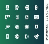dial icon set. collection of 16 ... | Shutterstock .eps vector #1317137033