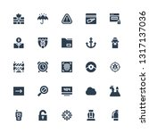 security icon set. collection... | Shutterstock .eps vector #1317137036