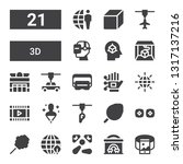 3d icon set. collection of 21... | Shutterstock .eps vector #1317137216