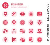 pointer icon set. collection of ...   Shutterstock .eps vector #1317139739