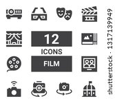film icon set. collection of 12 ... | Shutterstock .eps vector #1317139949