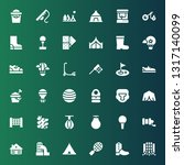 recreation icon set. collection ... | Shutterstock .eps vector #1317140099