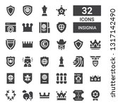 insignia icon set. collection... | Shutterstock .eps vector #1317142490