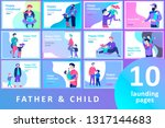 vector people character. father ... | Shutterstock .eps vector #1317144683
