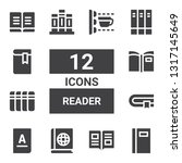 reader icon set. collection of... | Shutterstock .eps vector #1317145649