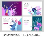 web page design template for... | Shutterstock .eps vector #1317146063