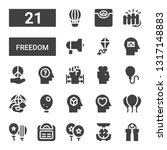 freedom icon set. collection of ... | Shutterstock .eps vector #1317148883