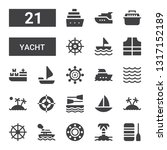 yacht icon set. collection of... | Shutterstock .eps vector #1317152189