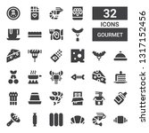 gourmet icon set. collection of ... | Shutterstock .eps vector #1317152456