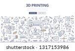 engineer using 3d printer to... | Shutterstock .eps vector #1317153986