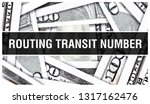routing transit number closeup... | Shutterstock . vector #1317162476
