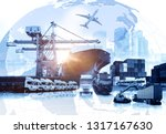 global business of container... | Shutterstock . vector #1317167630