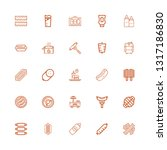 editable 25 sausage icons for... | Shutterstock .eps vector #1317186830