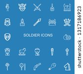 editable 22 soldier icons for... | Shutterstock .eps vector #1317186923