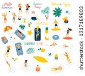 hello summer vector... | Shutterstock .eps vector #1317189803
