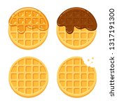 Cartoon Round Waffles...