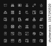 editable 36 carton icons for... | Shutterstock .eps vector #1317193520