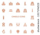 editable 22 candle icons for... | Shutterstock .eps vector #1317196523
