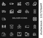 editable 22 deliver icons for... | Shutterstock .eps vector #1317196649