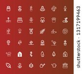 editable 36 flora icons for web ... | Shutterstock .eps vector #1317199463