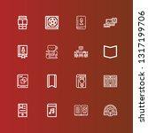 editable 16 literature icons... | Shutterstock .eps vector #1317199706