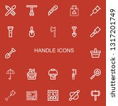 editable 22 handle icons for... | Shutterstock .eps vector #1317201749